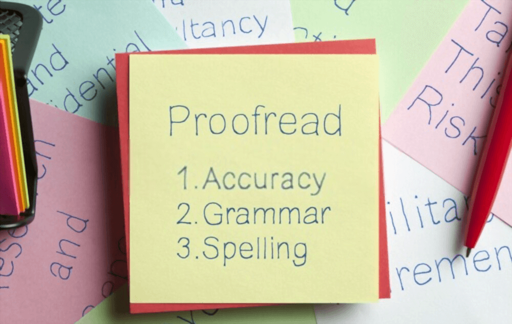 Proof Reading Editing Service